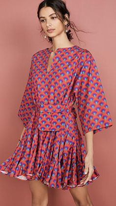 India Fashion, Fashion 2020, Nice Dresses, Casual Dresses, Shift Dresses, Floaty Dress, Swimwear Cover Ups, Dress Cuts, Fashion Outfits
