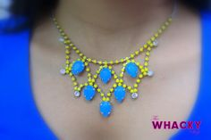 Sunshine blue (neon yellow and blue);   Price - Rs 890 (The Whacky Shop)