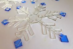 Kiln-Formed Glass: A Simple Snowflake