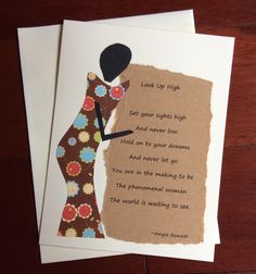 Blank Motivational Inspirational Card with Poem for Encouragement For Women by calabashcreations on Etsy
