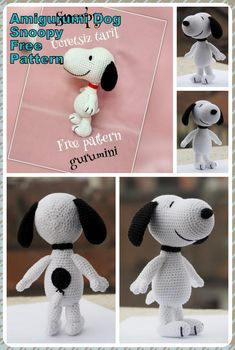 In this article we will share the amigurumi little panda crochet free english pattern. Amigurumi related to everything you can not find and share with you. Crochet Amigurumi Free Patterns, Crochet Animal Patterns, Stuffed Animal Patterns, Crochet Blanket Patterns, Crochet Dolls, Crochet Panda, Snoopy Amigurumi, Amigurumi Doll, Dog Pattern