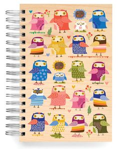 JUMBO JOURNALS :: Owls Birch Jumbo Journal - Ecojot - eco savvy paper products
