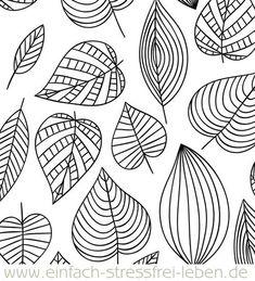 Endlich wieder ein Freebie! Und da der Herbst vor der Tür steht, könnt Ihr die Blätter richtig bunt anmalen, wenn Ihr wollt! Lettering, Zentangle, Bunt, Coloring, Abstract, Artwork, Crafts, Beautiful, Simple
