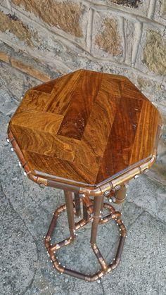 achteckige Anzeigespalte in Olive Holz und von DorealiStudioRoma