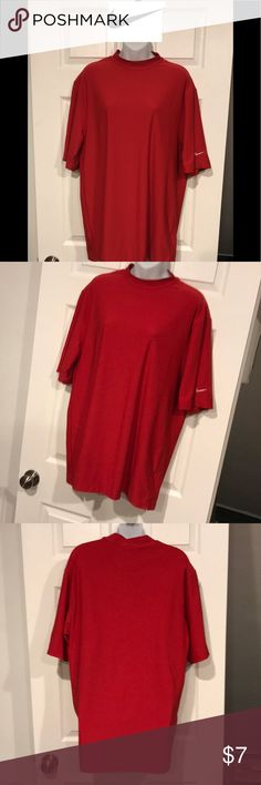 Like new Men's NIKE golf shirt Great red DriFit NIKE Golf technology shirt. No stains. Worn and washed once. Fast shipping. And bundle discounts. Check out my other men's items Nike Shirts