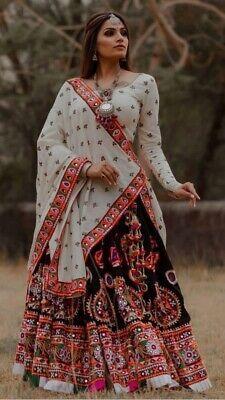 Navratri Garba lehenga choli ghagra Skirt blouse dupatta Dandiya Dress For Women | eBay
