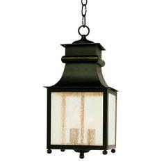 Trans Globe 45633 WB Coastal Weathered Bronze Outdoor Hanging Lantern