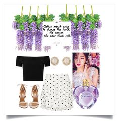 """Floral & Purple"" by velenlymarques on Polyvore featuring River Island, Alice + Olivia, Aquazzura, Kate Spade and Vera Wang"