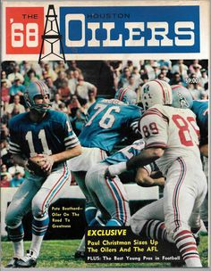 1968 Houston Oilers AFL Football Magazin
