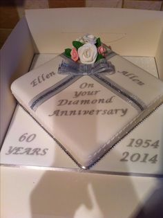 Diamond wedding anniversary cake                                                                                                                                                                                 More
