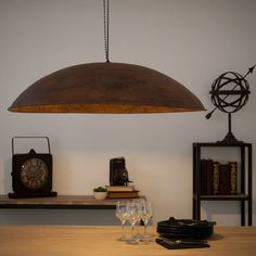 ESCALE rusted look metal industrial ceiling light D Metal Industrial, Industrial Kitchen Design, Industrial Ceiling Lights, Rustic Lighting, Vintage Lighting, Lighting Design, Decorative Lighting, Industrial Bedroom Furniture, Rustic Furniture