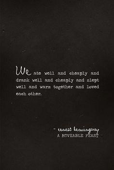 #ErnestHemingway
