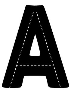 Print the letters.  Laminate the pages.  Have the children take racecars and   drive over the letters.  These letters are available in both upper case and   lower case letters.  These are available in with the letters printable in black   ink or blank which can be printed on black construction paper.