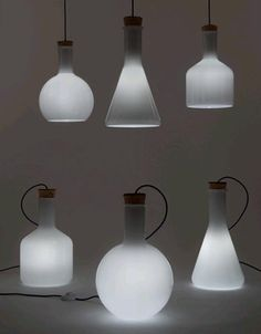Labware Lighting: 3-Lamp Set Inspired by Modern Science