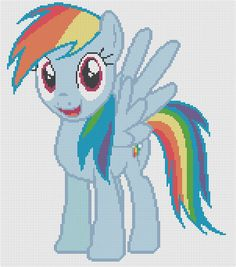 My Little Pony Rainbow Dash Cross-stitch Pattern