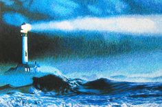 The Lighthouse #Beautiful #Handmade #Silk #Embroidery #Art 77213 http://www.queensilkart.com/100-handmade-silk-lighthouse-suzhou-silk-embroidery-art-77213/ Although this scene is from New England, lighthouses are ubiquitous on Chinese coasts, the oldest date from the 8th century.