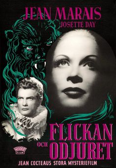 LA BELLE ET LA BETE aka BEAUTY AND THE BEAST (Dir. Jean Cocteau, 1946) Swedish poster