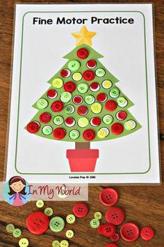 FREE Christmas Preschool Centers Christmas Tree Fine Motor