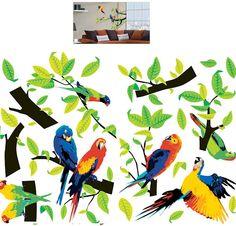 Art Applique Parrots Wall Sticker - Wall Sticker Outlet