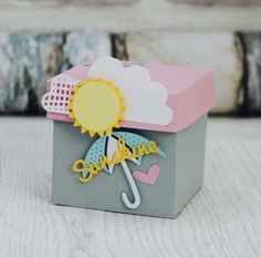 I am Katie and am a Creative Designer for Sizzix. I specialize in papercraft design and love to create cards, home décor and scrapbook layouts. Surprise Box Gift, Diy Gift Box, Gift Boxes, Handmade Birthday Cards, Greeting Cards Handmade, Exploding Gift Box, Gift Wraping, Gift Envelope, Christmas Gift Wrapping