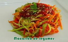 Macarrão de legumes - Receitas light #receitas #macarrão #receitaslight #dieta #fitness
