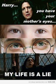 A lie - 15 hilarious snape memes harry potter fan art, hogwarts, humor, Memes Do Harry Potter, Mundo Harry Potter, Harry Potter Pictures, Harry Potter World, Harry Potter Spells, Potter Facts, Harry Potter Voldemort, Harry Potter Bookmark, Harry Potter Films