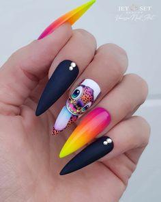 Pop Art Nails, Drip Nails, Crazy Nail Designs, Nail Art Designs, Gorgeous Nails, Pretty Nails, Vanessa Nails, Secret Nails, Tie Dye Nails