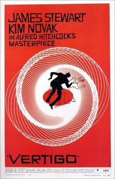 vertigo movie poster saul bass - radial balance