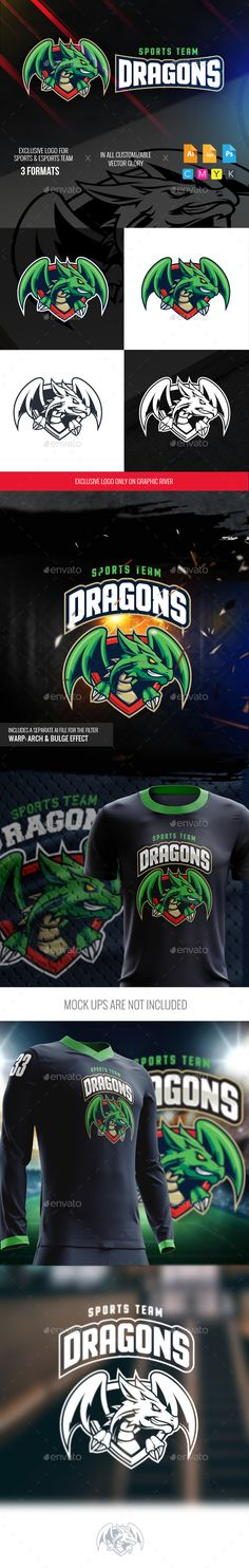 Green Dragon Sports Logo - Logo Templates