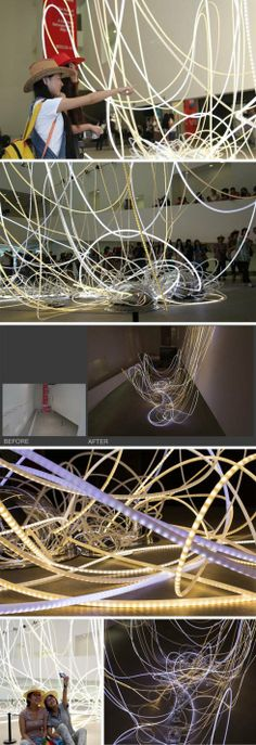 The Mirror Connection, Light installation in Museum of China Central Academy by Grimanesa Amoros