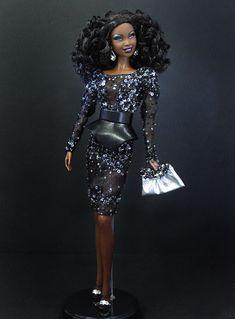 ooak black barbies | OOAK Barbie NiniMomo's Barbie Basics Doll