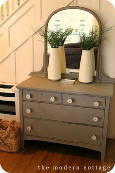 a chalk paint dresser in Coco | meet Alison from The Modern Cottage