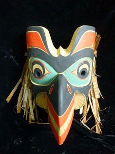 "Wonderful Raven  mask  "" by Tony Gulbrandsen Tsimshian Nation Red cedar"