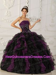 black and purple ball gown quinceanera dress love the colors!!!!!!!!!