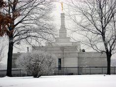 Winter Quarters Temple Pretty Snow