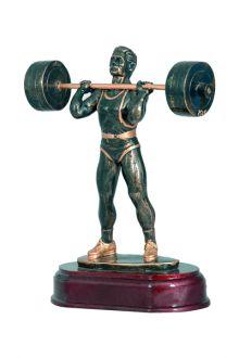 statuetka z zywicy,podnoszenie ciężarów, ciężarowiec, trofeum sportowe, lekkoatletyka - PRODUCENT STATUETEK