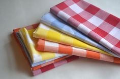 Large Gingham Cloth Napkins by Dot and Army. $4.50, via Etsy.