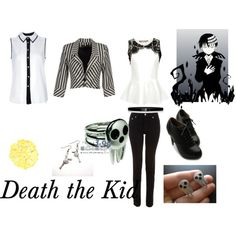 """Death the Kid- Soul Eater"" by animedowntherunway on Polyvore"