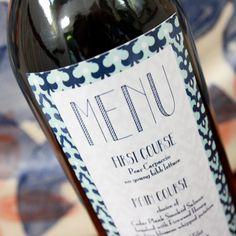 Wine Menu Label