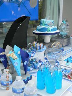 "Shark week Photo 5 of Sharks / Birthday ""Shark party"" 6th Birthday Parties, Boy Birthday, Birthday Ideas, Megalodon, Shark Party, First Birthdays, Baby Shark, Shark Week, Party Ideas"