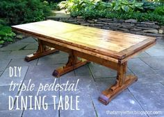 triple pedestal dining table | Do It Yourself Home Projects from Ana White