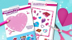 Download: Valentine's Day Heart Card - Downloads - Activities - LEGO® Friends - LEGO.com - Friends LEGO.com
