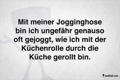 Jogginghose vs. Küchenrolle :)