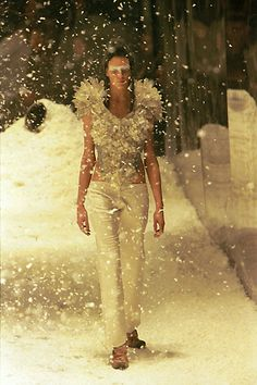 Rock crystal bodice . Kees van der Graaf for Alexander McQueen .'The Overlook' , Fall-Winter 1999 .
