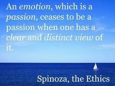 Emotions, Spinoza, the Ethics