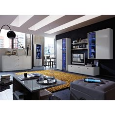 Monza High Gloss White Room Setting-1
