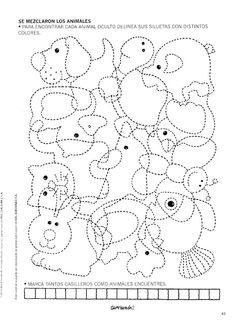 Grafimanía 2 - Betiana 1 - Álbuns Web Picasa Animal Activities, Motor Activities, Classroom Activities, Activities For Kids, Preschool Colors, Preschool Writing, Preschool Worksheets, Hidden Pictures, Pre Writing
