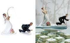 Hehehe wedding cake toppers