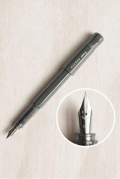 Pilot Pen - Kakuno Fountain Pen - Fine - Grey