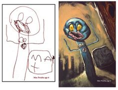 CHILDREN'S DRAWINGS ARE SCARY WHEN THEY'RE PAINTED WITH A TOUCH OF REALISM